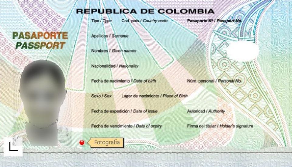 Nuevo pasaporte colombiano de lectura mecánica 2015